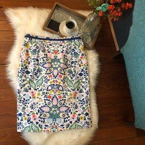 Nwot Martha boden floral print pencil skirt 10 L
